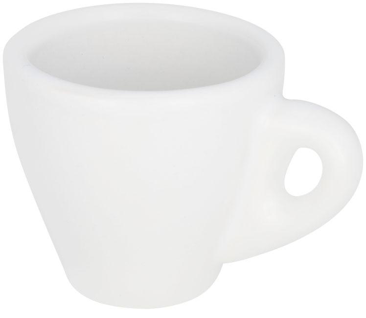Caneca de café espresso branca Perk