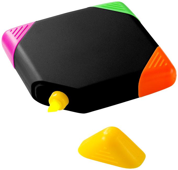 Trafalgar square-shaped 4-colour highlighter