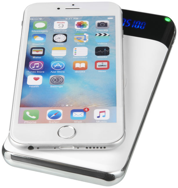 Constant 10.000 mAh wireless power bank with LED