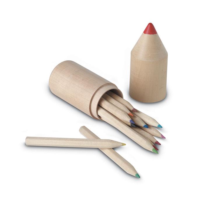 12 Pencils In Wooden Box - Coloret