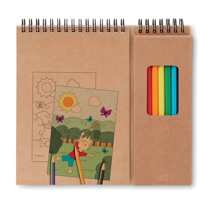 Colouring Set With Notepad - Colopad
