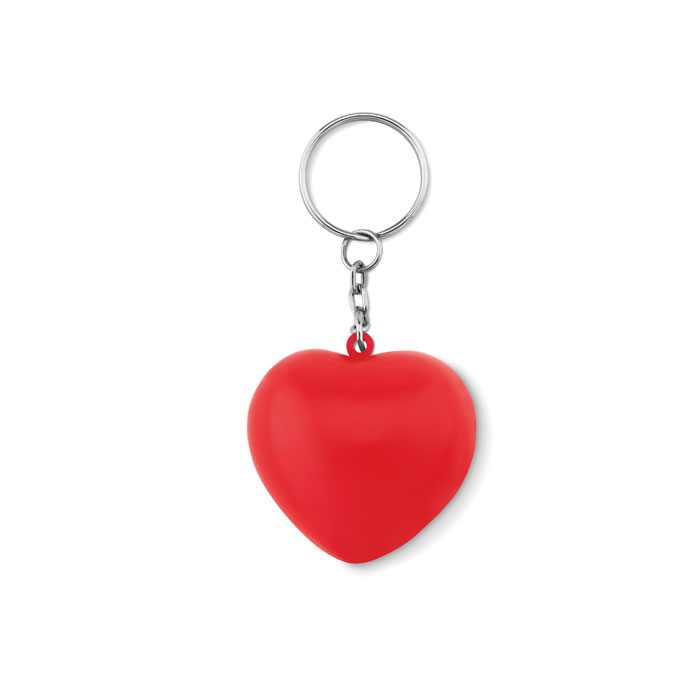 Keyring with PU heart - LOVY RING