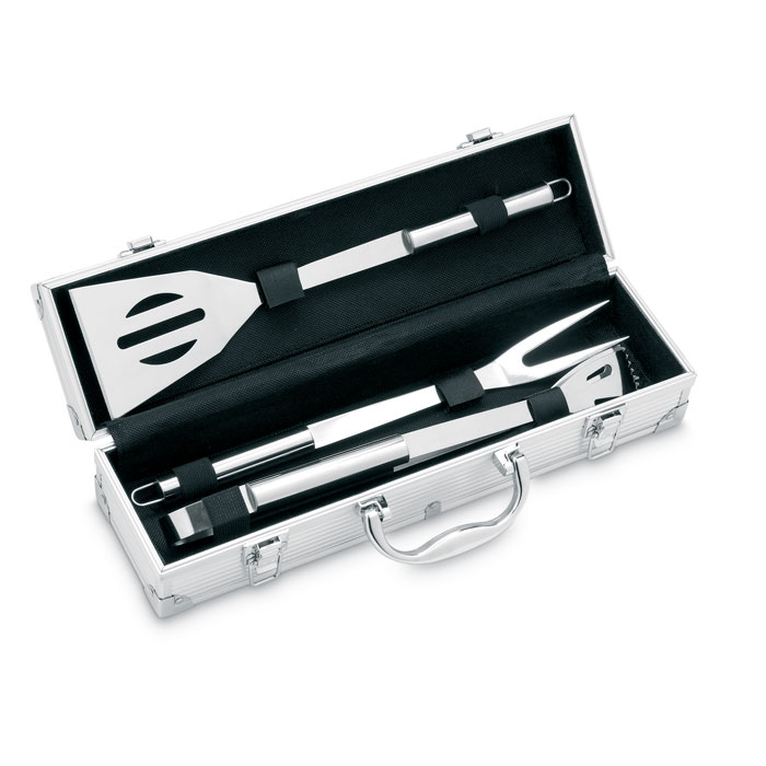 3 BBQ Tools In Aluminium Case - Asador
