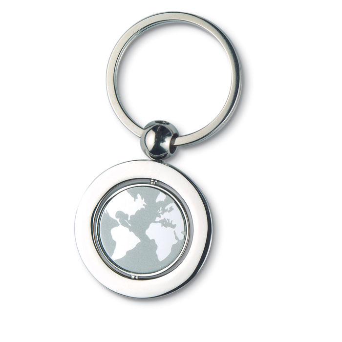 Globe Metal Key Ring - Globy