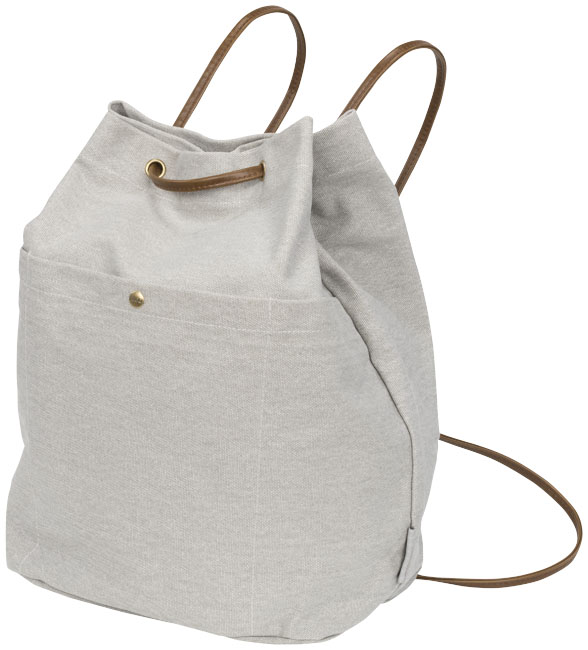Harper cotton canvas drawstring backpack