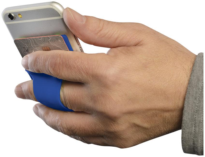 Porta-cartões de silicone para telemóvel com espaço para dedo Storee