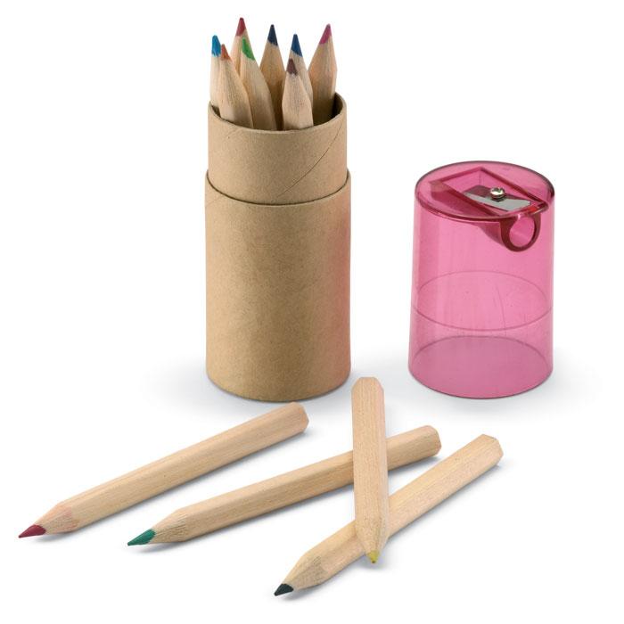 Tubo em Cartão  com 12 lápis de cor LAMBUT