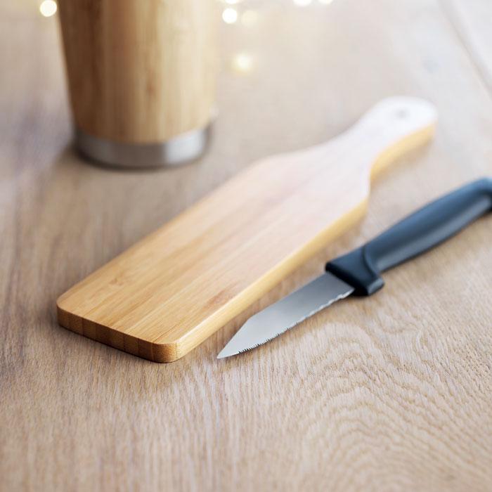 Conjunto de facas em bambu