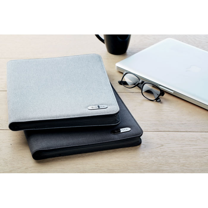 A4 Zip Portfolio In Polyester - Notes Folder