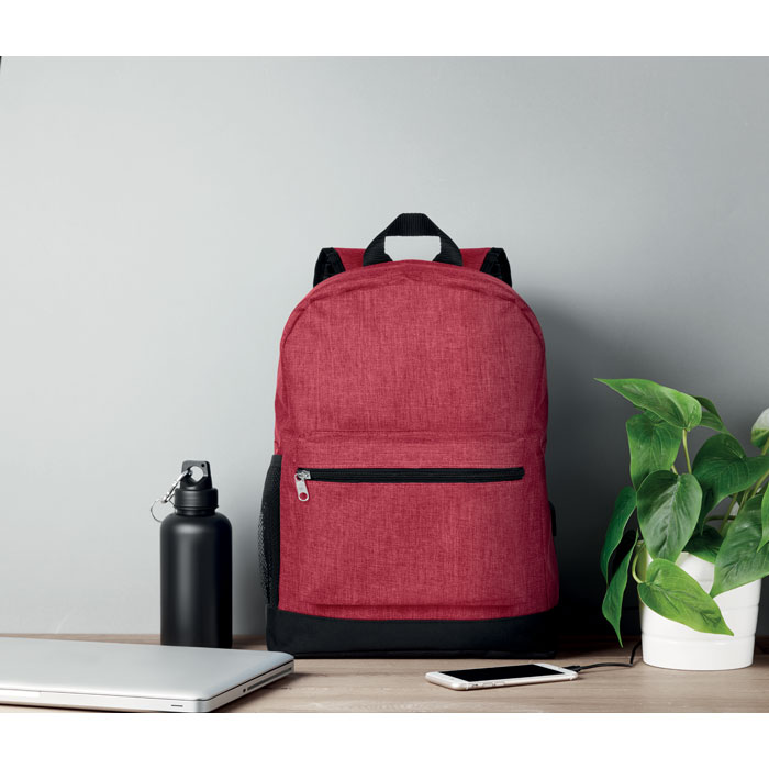 600D 2 Tone Polyester Backpack - Bapal Tone