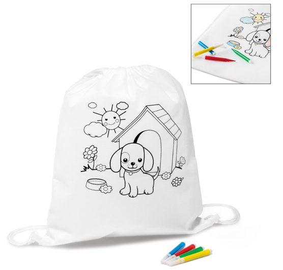 Saco Tipo Mochila Para Colorir - Draws