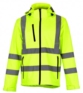 High-visibility softshell jacket for men, with removable hood - ZAGREB WORK.