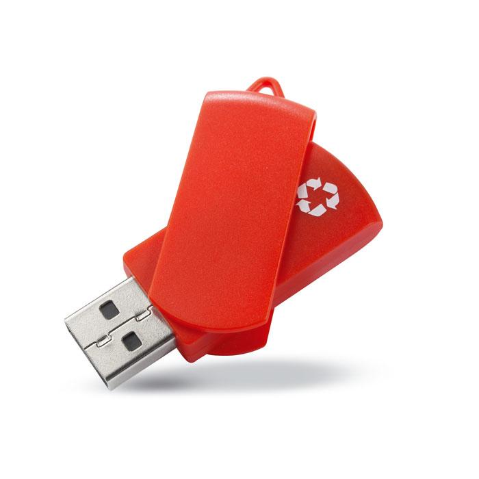 Pen USB em plástico 100% reciclado