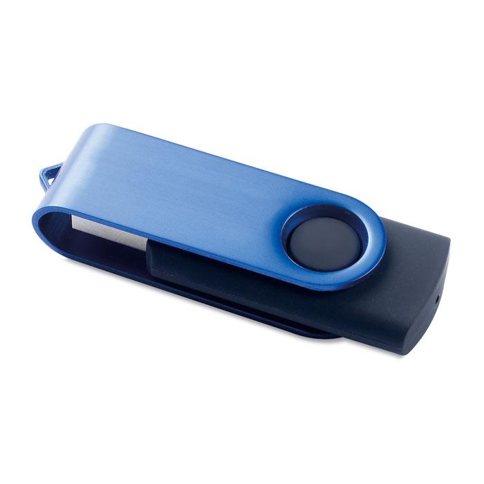 Pen USB metálica giratória