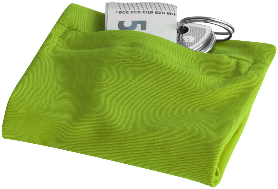 Squat wristband with zippered pocket