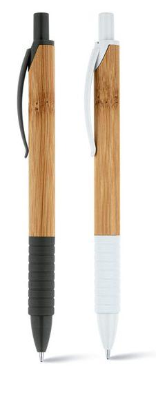 Esferográfica em bambu com antideslizante