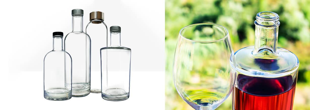 Garrafas de vidro personalizáveis