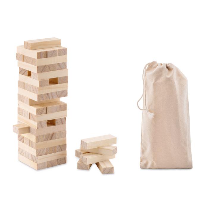 Jenga em bolsa de algodão - PISA