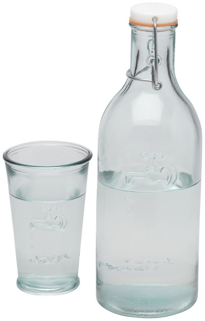 Ford water carafe made from recycled glass