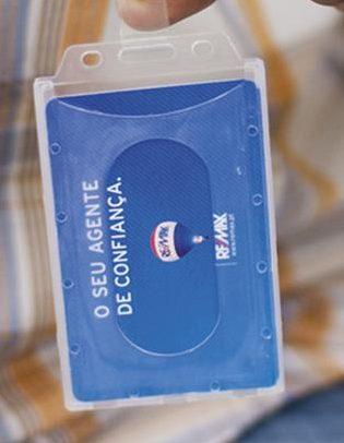 Identificador em PVC rígido, com mola