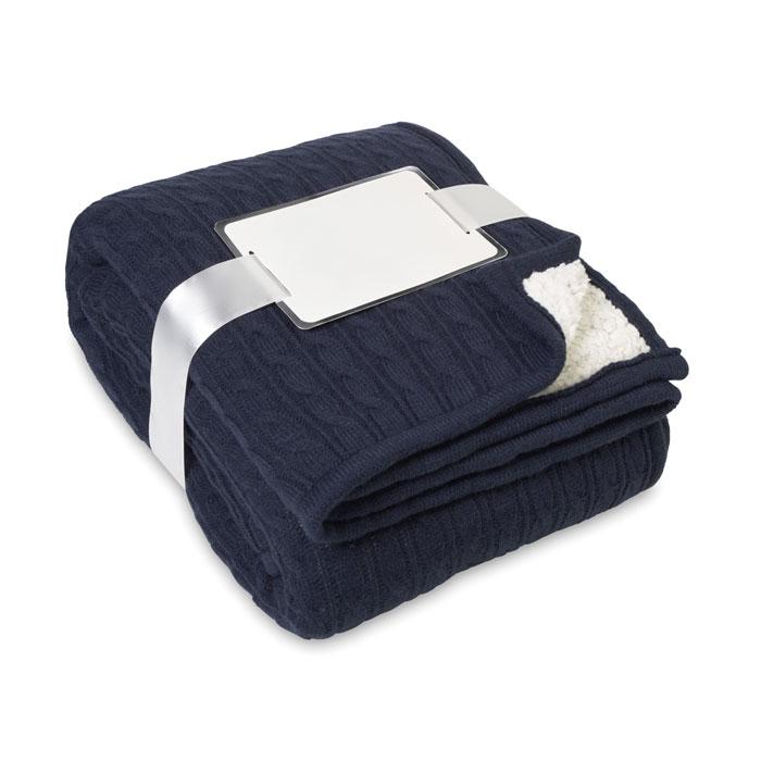 Blanket, Cable Acrylic/sherpa - Chamonix