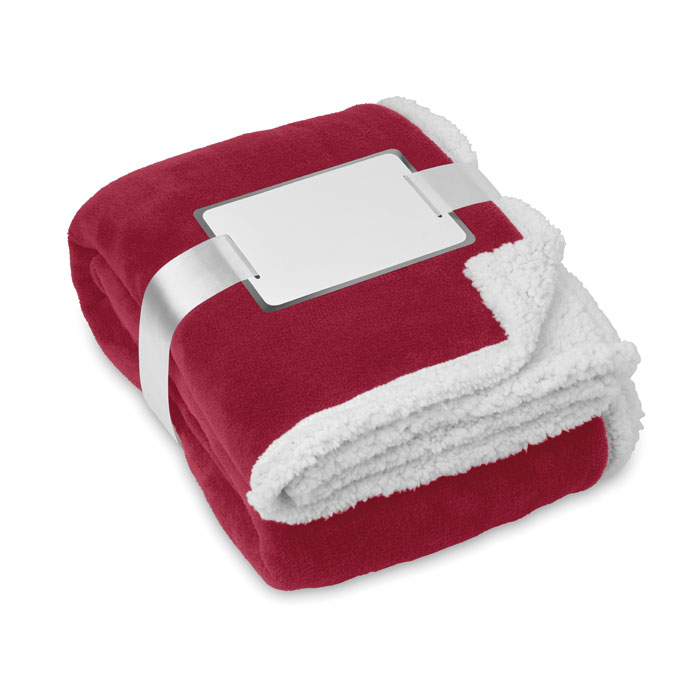 Blanket, coral fleece/ sherpa - ZERMATT