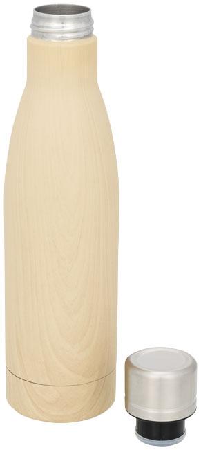 Garrafa com isolamento em vácuo de cobre com aspeto de madeira de 500 ml - Vasa