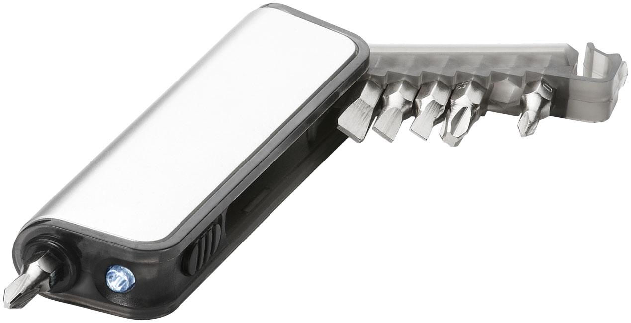 Mini caixa de ferramentas com lanterna de 7 funções Reno