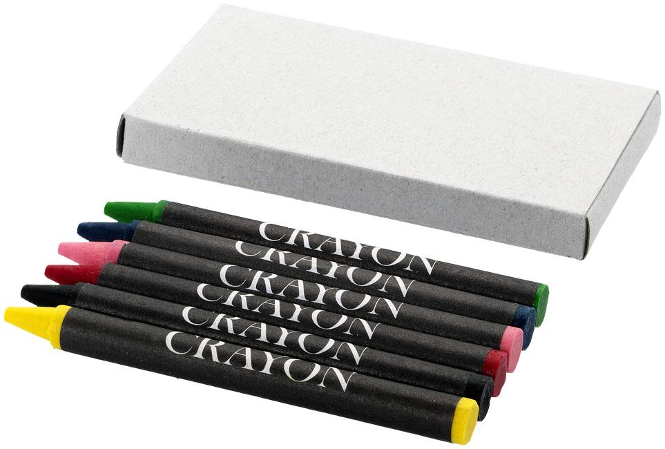 Conjunto de 6 lápis de cera Ayo