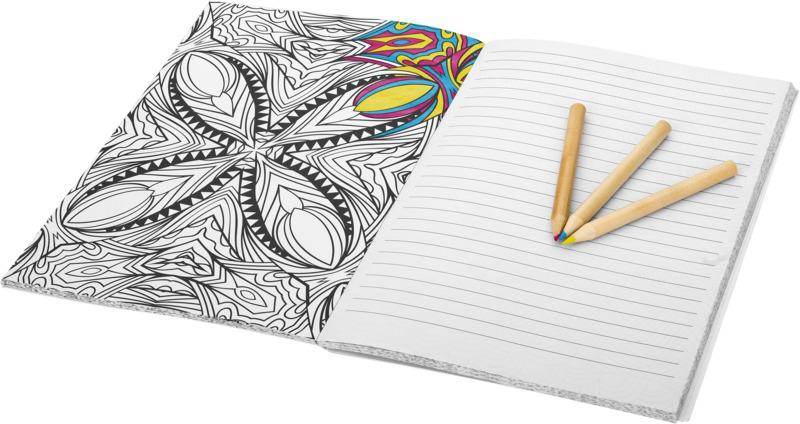 Bloco de notas A5 para colorir Doodle Colour Therapy
