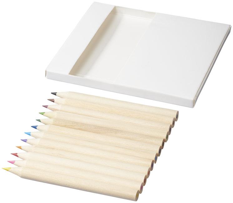 Conjunto de 22 lápis e cartões para colorir