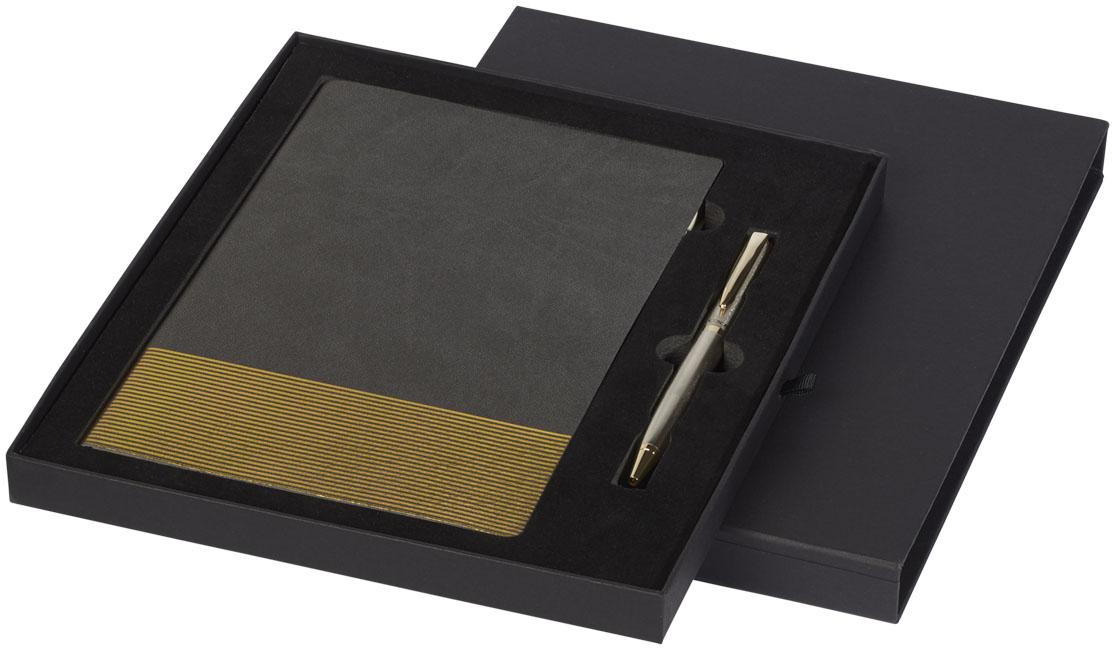 Conjunto de oferta com bloco de notas A5 e esferográfica Midas