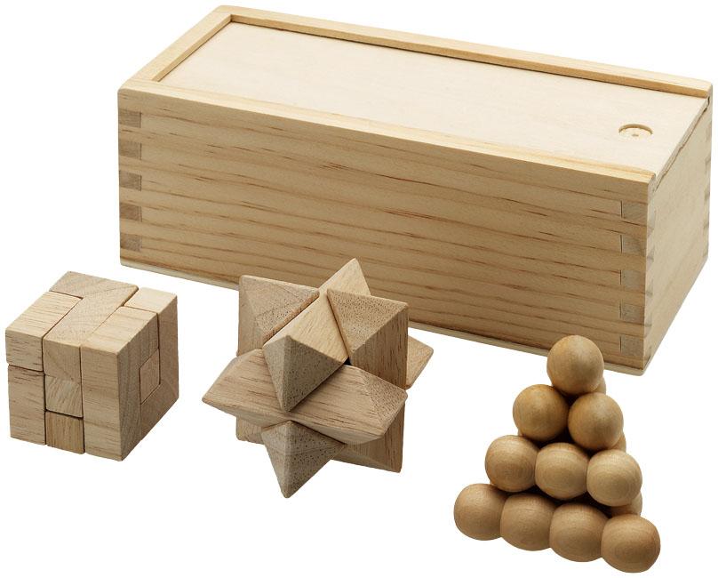 Quebra-cabeças de 3 peças em madeira Brainiac