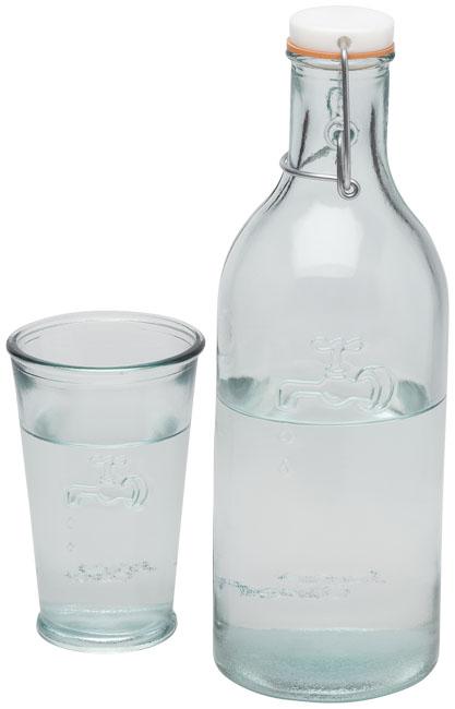 Jarro de água com copo de vidro reciclado Ford