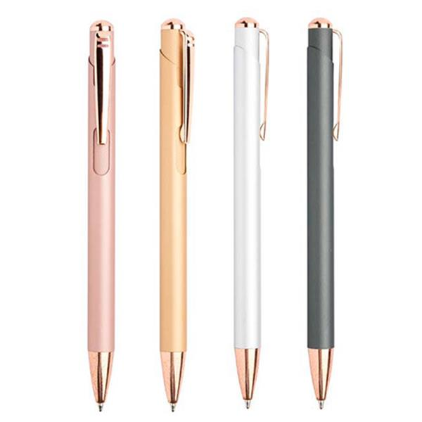 Metal ball pen with matching details