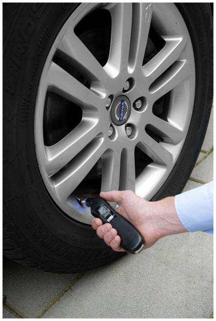Medidor de pressão de pneus digital com luz 3 em 1 Shines