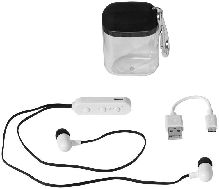 Auriculares Bluetooth® Budget em caixa com mosquetão