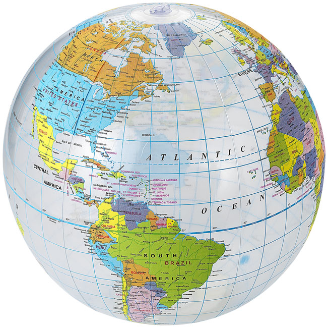 Bola de praia transparente Globe