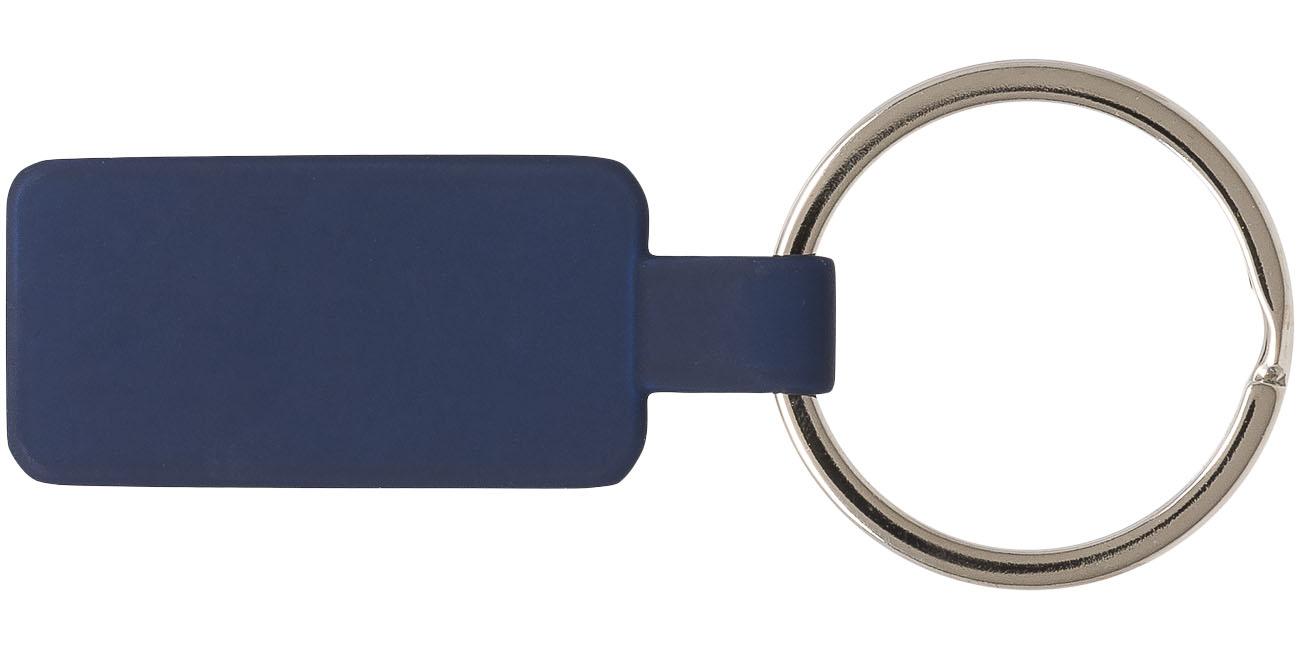 Porta-chaves com acabamento de tacto suave e argola metálica Tokyo