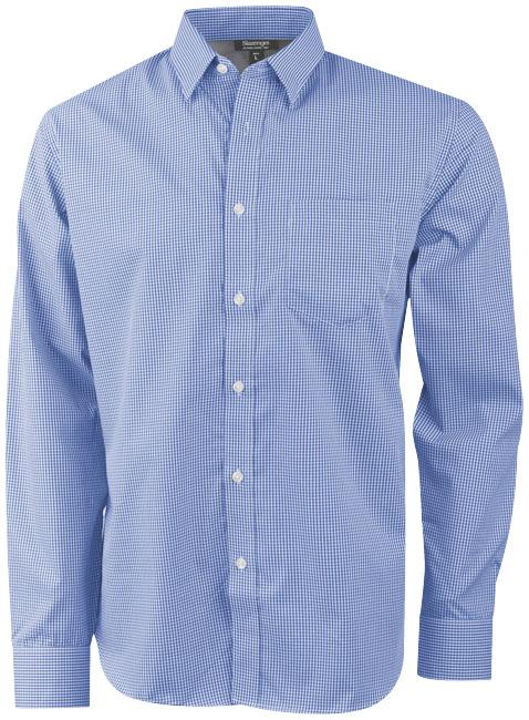 Camisa de popelina de quadrados e manga comprida de homem Net