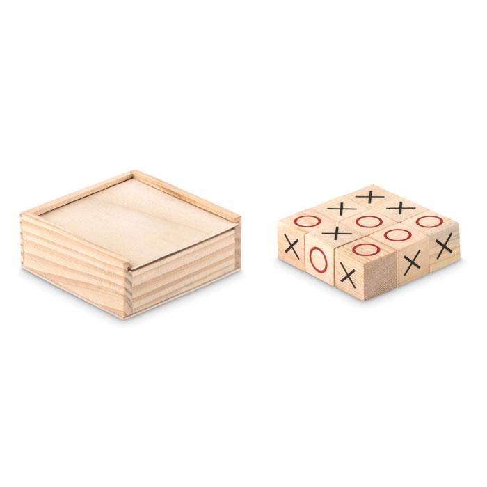 Wooden tic tac toe - TIC TAC TOE