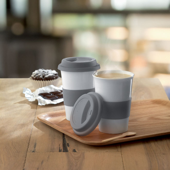 Ceramic Mug W/ Lid And Sleeve - Tribeca