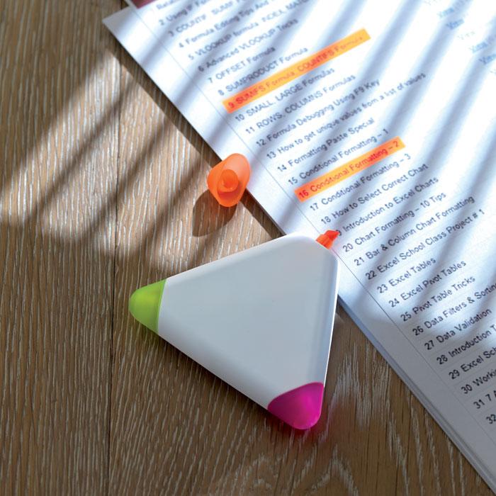 Marcador Triangular com 3 cores TRIANGULO