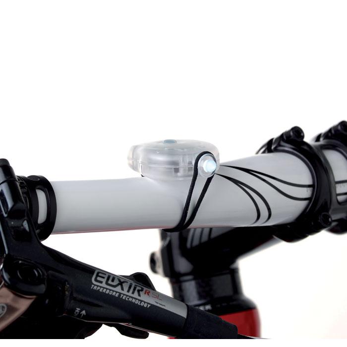 2 luzes p/ bicicleta em caixa de PP BYLUX