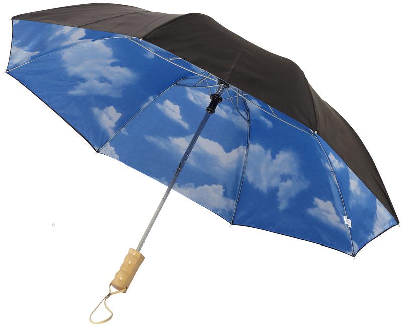 Guarda-chuva dobrável automático de 2 secções de 21 Blue skies