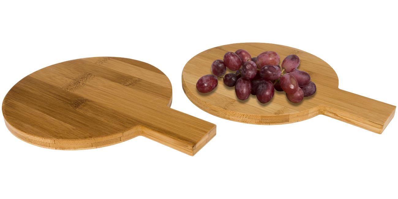 Conjunto de 2 peças redondas de bambú Ayden