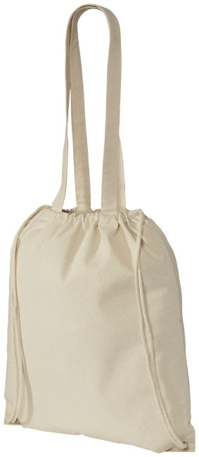 Eliza cotton drawstring backpack