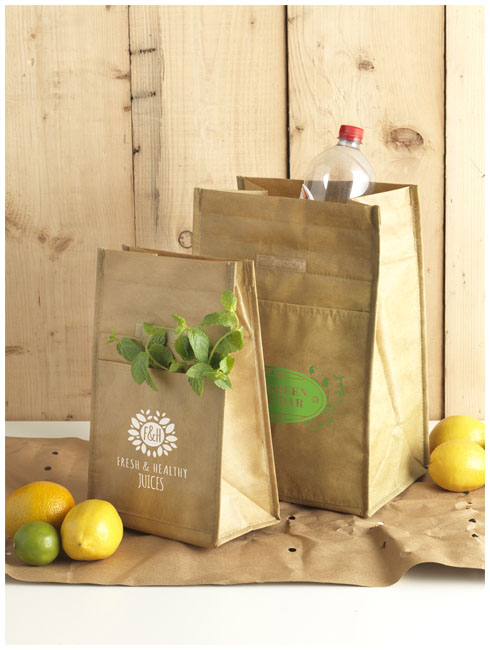 Lancheira térmica similar a saco de papel Paper bag