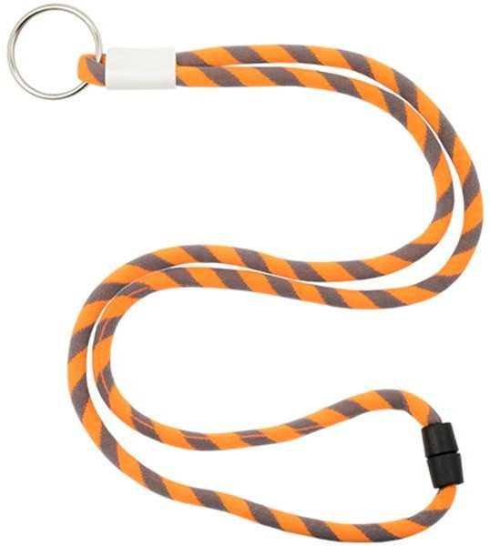 Metallic adjustable terylene tubular lanyard, with safety closure