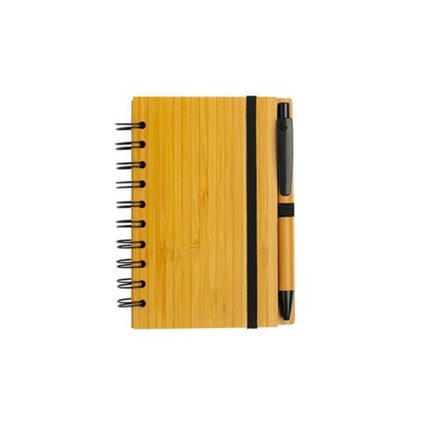 Bloco de notas A6 em bamboo